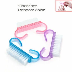 Pack of 10Pcs Random Nail Art Dust Clean Cleaning Brush Manicure Pedicure Tool