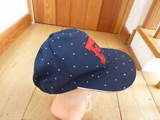 FRENCH CONNECTION FCUK PEAKED HAT CAP ONE SIZE NAVY BLUE RED WHITE CROSS BNWT