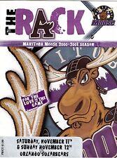 Orlando Solar Bears / Manitoba Moose 2000-01 Minor Pro Hockey Program msc8