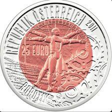 Österreich 25 Euro 2011 Robotik - Silber Niob Münze