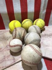 * Lot of 8 Slowpitch Softballs Dudley USSSA EASTON BLANK WHITE YELLOW ASA 37