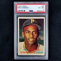 1957 Topps Roberto Bob Clemente #76 PSA 6 EX-MT Pittsburgh Pirates HOF Set Break