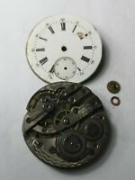 Vintage Swiss Made Pocket Watch Movement for Spares or Repairs