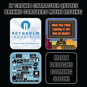 The IT CROWD Drinks Coasters / Bar Mat - Hardboard / Gloss Finish