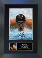 MICHAEL PHELPS Signed Mounted Reproduction Autograph Photo Print A4 264