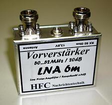Lna-6m GaAs-FET préamplificateur/20db/50 - 52 MHz Fer Blanc Boîtier