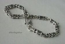 """925 Sterling Silver Designer Bracelet - 8"""" Inches, 8.8 Grams, 4.4mm Width"""