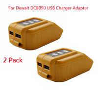2x USB Mobile Charger Adapter for Dewalt DCB090 10.8V to 20V Slide Battery