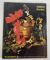 Indiana Hoosiers vs Purdue Boilermakers Football Program Nov. 25, 1978 Vintage