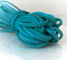 Cord, Faux Suede Lace Persian Blue 3mm 18-FT