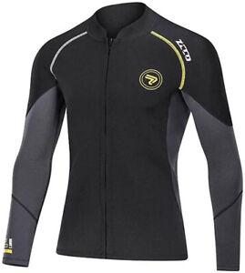1.5MM Neoprene Wetsuit Men Front Zipper Jacket Top Surf Diving Swimming Snorkeli