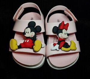 Toddler Girl's Mini Melissa Cosmic Disney Pink Minnie Mickey Sandals Size 6