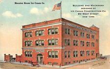 "Cambridge MA ""Mansion House Ice Cream Co."" 90 West Street Postcard"