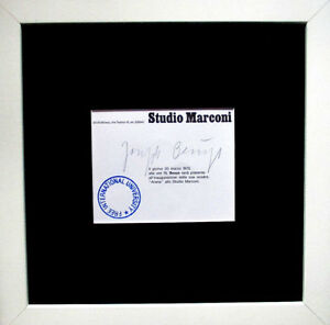JOSEPH BEUYS >Studio Mai< HAND-SIGNIERT 21x10, signed Multiple Rahmen Zertifikat
