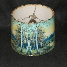 Mid-Century Birch Tree Scenic Lamp Shade