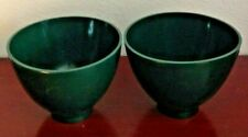 "PAIR(2) OF FLEXIBLE MIXING BOWL. RUBBER. 5.5"" DIAMETER. GREEN. NEW. UNUSED"