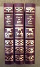 The Godfather Trilogy: The Godfather. Omerta. The Last Don. 3 Vol. Easton Press