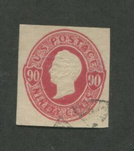1870 United States Stamped Envelope Stationary #U105 Used Canceled Cut Square