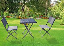 Tavolo con 2 sedie pieghevole Duetto in polirattan per giardino terrazzo