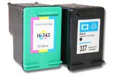 2x CARTOUCHE d'ENCRE noir couleur pour HP 337 343 Photosmart C4170 C4180
