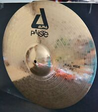 PAISTE ALPHA CYMBALE FULL RIDE 20 '' NEUVE