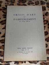 Catalogue Drouot, Me Ader - Objets d'art et d'ameublement du XVIIIe - 20/11/1963