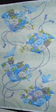 ASIAN PANEL Floral Fans and Cranes - MANDALAY BREEZE Gorgeous Oriental Print OOP