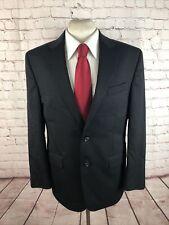Chaps Men's Black Solid Wool Suit 42R 33X32 $438