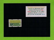 Bund-ATM Druckerei-Kombi-Abart OLIVGRÜN ** KLÜSSENDORF 1.1 iu X Mi.50.-€     ATM