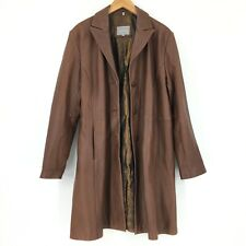 Juliet Michelle Brown Leather Coat Womens Size 3XL