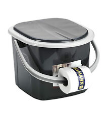 Toilet Bucket Seat Detachable Lid Outdoor Trip 15.5L Portable Camping Festival
