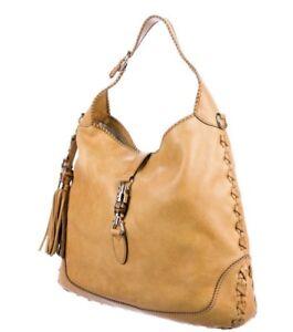 Large Original Gucci Jackie Bag Yellow Leather Handbag Purse