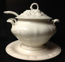 Vintage 4 Piece Tureen Covered Soup Dish by N. S. Gustin Co. Los Angeles 1961