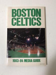 1983-84 NBA Basketball Boston Celtics Official Media Guide Book MINT