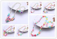 6 Sets Girl Kids Toddlers Lovely Dazzling Beads Necklace Bracelet Jewelry Set