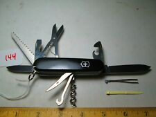 #144 Black Victorinox Swiss Army Huntsman Knife