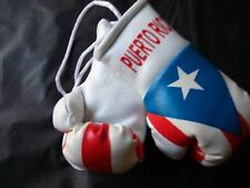 Mini Boxing Gloves for Car Truck Bus Jeep SUV RV Decor RearView PUERTO RICO Flag