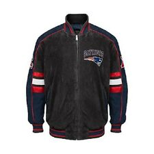 Officially Licensed NFL Colorblocked Suede Jacket by GIII - Patriots 2XL