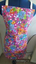APRON / PINNIE / PINNY WITH POCKETS HANDMADE COLOURFUL COTTON FABRIC OOAK ITEM