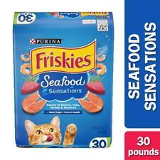 Friskies Dry Cat Food Pet Healthy Treats Snacks Seafood Sensations Flavor 30lb
