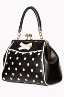 Women's Black White Polka Dots Vintage Retro 50's Rockabilly Bag BANNED Apparel