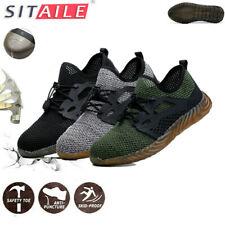 Men's Work Safety Shoes Steel Toe Bulletproof Boots Indestructible Sneakers US