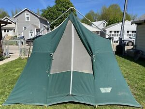 Vintage Wenzel Canvas Cabin Camping Tent 8' X  10'  80's 70's GREAT CONDITION!