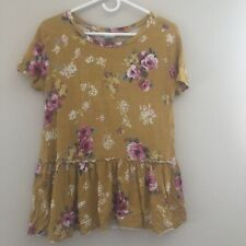 Agnes And Dora Relaxed Ruffle - Medium  Preowned Hard To Find Print