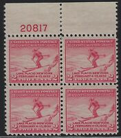US Stamps - Scott # 716 - Plate # Block of 4 - Mint Hinged               (D-089)