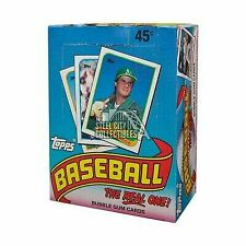 1989 Topps Major League Baseball The Real One 36 Ct 15 Bubble Gum Cards