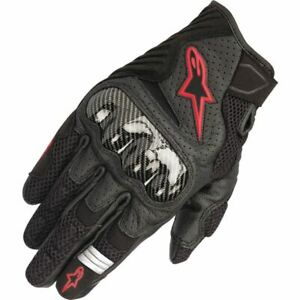 Alpinestars SMX-1 Air V2 Vented Leather Motorcycle Glove - Black/Red, All Sizes