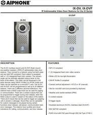 Aiphone Ix-Dv, Ip Addressable Video Door Stations for the Ix Series