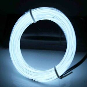 Neon LED Light Glow EL Wire String Strip Rope Tube Decor Car Party + Controller