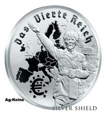 1 oz 2017 Das Vierte Reich  Proof - Death of the Dollar #11 Silver Shield 999
